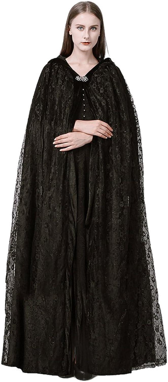 SK Studio Black Velvet Stylish Winter Long Cloak for Women