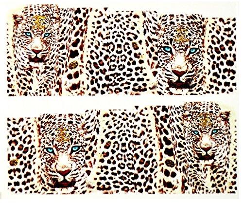 KM-Nails Farbige Leoparden Sticker #130 Nailart