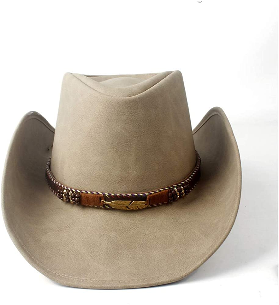 sun hat Portland Mall 100% Leather Men Western Cowboy beach Hat Don't miss the campaign