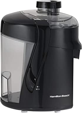 "Hamilton Beach HealthSmart Juicer Machine, 2.4"" Feed Chute, Centrifugal Extractor, Easy to Clean, BPA Free, 400W, Black (6780"