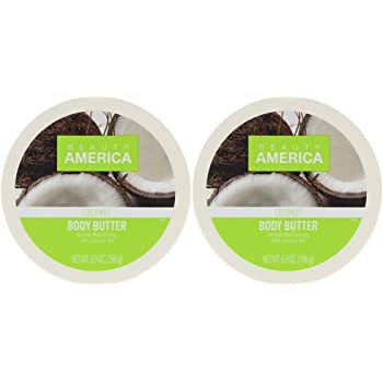 Beauty America Intense Moisturizing Body Butter With Coconut Oil, 2 pack