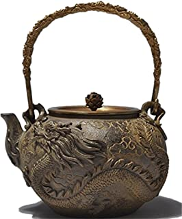 RUIKA Japanese tetsubin Cast Iron Teapot Dragon and phoenix pattern Kettle 1400ml 48 Ounce