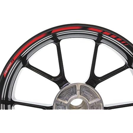 Impressiata Motosticker Kompatibel Für Motorrad Felgenaufkleber Specialgp Rot Komplette Aufkleber Aufkleber Bmw R1200r Auto
