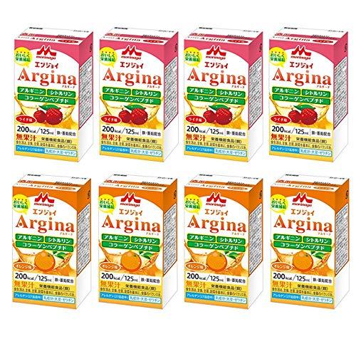 【お試し8本セット】 クリニコ エンジョイ アルギーナ Argina オレンジ味/ライチ味各4本 125mlX8本