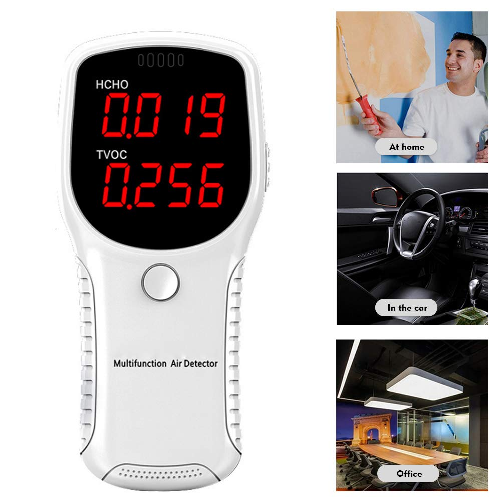 Details about  /Air Quality Monitor Carbon Dioxide Detector CO2 Meter Tester TVOC Monitor H7C1