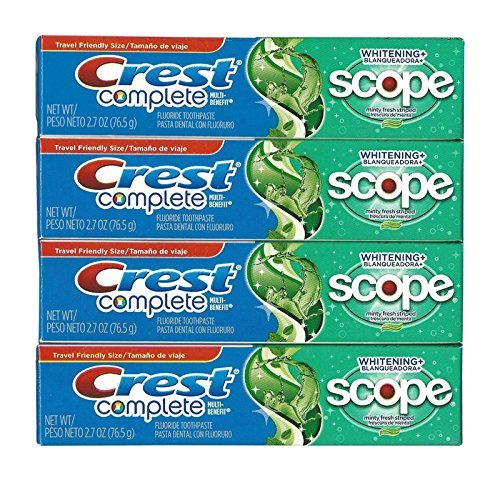 Price comparison product image Crest Complete Multi-Benefit Whitening + Scope Minty Fresh Flavor Toothpaste 2.7 Oz (Pack of 4)