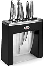 New Global 7Pce Black Kabuto Knife Block Set Knives 7 Piece Japanese