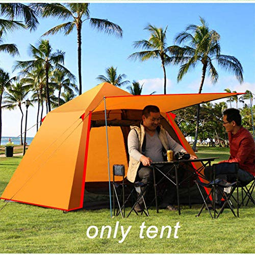Aoguhn Automatische outdoor-campingtent voor 4 personen, waterdicht, dubbellaags tent, opvouwbaar, snel te openen, 3 seizoenen