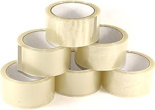 Plakband transparant 50 mm x 66 m (108 rollen) stil afrollend - pakketplakband transparant extra sterk - brede verpakkings...