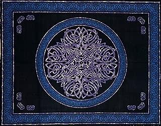Handmade 100% Cotton Celtic Tye Dye Knot Print Tapestry Bedspread Throw Bed Sheet Coverlet Picnic Beach Blanket