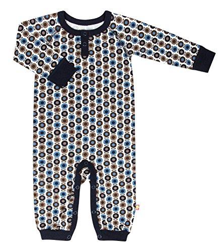 katvig Baby Strampler Overall aus Bio-Baumwolle Apfeldruck dunkelblau, Größe:80, Farbe:dunkelblau