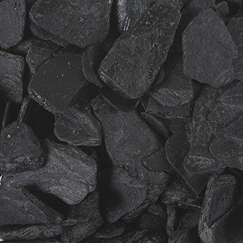 SCHIEFER 20-40mm. 1000 Gramm / 1 kg. Naturschiefer Steine gebrochen ANTHRAZIT