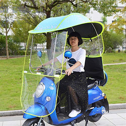 Universal Motorcycle Rain Cover, Quick Fold Electric Vehicle Umbrella regenjas Poncho Cover, Scooter Rider zondag schaduw Rain waterdichte hoes,B