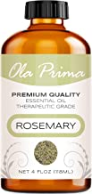 4oz - Premium Quality Rosemary Essential Oil (4 Ounce Bottle with Dropper) Therapeutic Grade Rosemary Oil