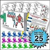 Fliptomania David & Goliath Flipbook Animation Activity Pack - 25 Sets DIY Flip Books