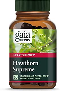 Sponsored Ad - Gaia Herbs Hawthorn Supreme, Vegan Liquid Capsules, 60 Count - Promotes Heart Health & Stimulates Healthy C...