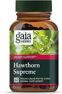 Gaia Herbs Hawthorn Supreme, Vegan Liquid Capsules, 60 Count - Promotes Heart Health & Stimulates Healthy C...