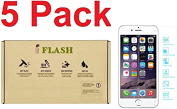 IFLASH [5 Pack Tempered Glass Screen Protector for Apple iPhone 6 Plus / 6S Plus 5.5