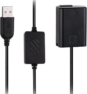 AC-PW20 フルデコ—ドDCカプラnp-fw50互換バッテリーUSBケーブルをAC-PW20 AC電源アダプタの代わりにするSONY a3000、a5000、a6000、a6500、a7R、a7S、RX10 III、 NEX-3N 適用