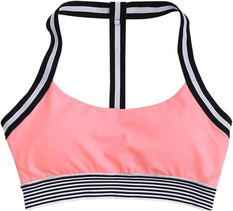 AIYUNDONG Fitness Sport BH Sexy Stretch Gym Crop Sport Top Fitness Top Streifen Yoga BH