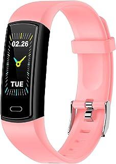 Rastreador de actividad física con monitor de frecuencia cardíaca, monitor de sueño, IP68 resistente al agua, calorías, contador de pasos, podómetro reloj de pulsera para hombres y mujeres