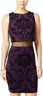 B. Darlin Womens Velvet Bodycon Dress
