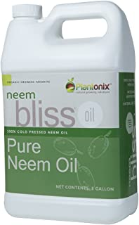 Organic Neem Bliss 100% Pure Cold Pressed Neem Seed Oil (1 Gallon) OMRI Listed for Organic Use