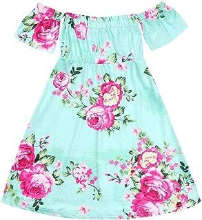 Vestido largo para madre e hija, para fiestas de verano, ceremonias de día festivo, playa, Mint green girl, 120(3-4Years)