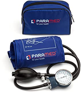 Professional Manual Blood Pressure Cuff – Aneroid Sphygmomanometer with Durable Carrying Case by Paramed – Lifetime