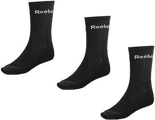 Reebok, Calcetines de atletismo para hombre, color negro
