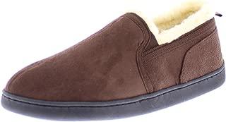 Mens Moccasin House Shoes,Indoor Outdoor Bedroom Slippers for Men,Memory Foam