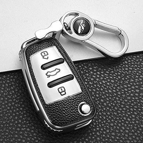 LYAKK Custodia in Pelle TPU Chiavi Auto all-Inclusive,per Audi A1 A3 A3 A4 A3 A4 A3 8S B9 TT Q3 Q7-Cina_White_Style_2