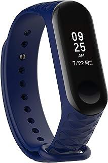 YANGSANJIN Fitness Tracker, para Xiaomi Band 4 Strap Silicone, Compatible 2019 Millet Bracelet Mi 4 Wristband para Hombres/Mujeres Xiaomi 4 Smartwatch Accesorios (Color Aleatorio)
