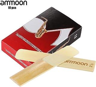 ammoon Piezas 10-pack 2.5 Fuerza las Cañas de Bambú Accesorios para Eb Saxofón Alto Sax