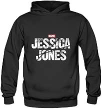 HUBA Women's Hooded Sweatshirt Jessica Jones Marvel Netflix Logo Black