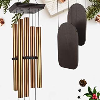 Large Wind Chimes Outdoor Deep Tone, 48 Inch Amazing Grace Wind Chime Sympathy with 5 Big Aluminum Tubes Tuned Soothing Me...