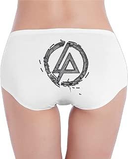 Cas Women Charming Linkin Park Low-Waist Panties Knickers White