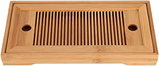 Delaman Tea Tray Mini Bamboo Japanese/Chinese Gongfu Tea Table Serving, Serving Tray Box Reservoir & Drainage Type for Teahouse