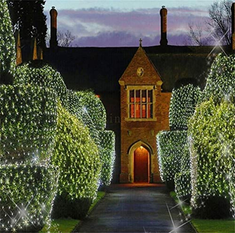He-shop Net Licht Wasserdicht Vorhang Indoor Outdoor Leuchtkranz Restaurant Garten Weihnachten Dekorationen Blau Wei 6  4 String