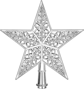 Golden Oumefar 100pcs Durevole Robusto Scintillio Artificiale Berry Stelo Ornamenti Perle bastoni per Albero di Natale Piccolo Vaso Giardino Festa di Nozze