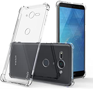 J&D Case Compatible for Xperia XZ2 Compact Case, [Air Buffer] [Drop Protection] Ultra-Clear Shock Resistant Slim TPU Bumper Case for Sony Xperia XZ2 Compact Bumper Case - [NOT for Xperia XZ2]
