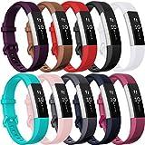 HUMENN Bracelet de Remplacment en TPU Silicone Réglable Sport Accessoire pour Fitbit...