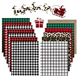 YRYM Christmas Buffalo Plaid HTV Vinyl - 13 Sheets 12' x 10' Black Red Buffalo...