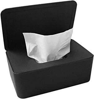 Wet Wipes Dispenser Holder Tissue Storage Box Case with Lid for Home Office