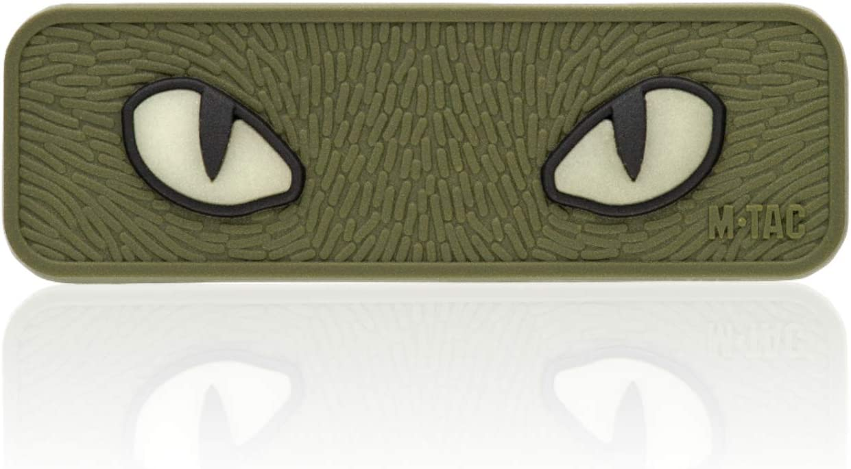 M-Tac Cat Eyes PVC Morale Patch - Max 75% OFF Tactical Hook Max 64% OFF Fastener