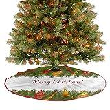 ThinkingPower Felpudo para árbol de Navidad, diseño de velas, decoración de árboles de Navidad, decoración de interiores para árbol de Navidad, decoración de fiesta, diámetro – 76,2 cm