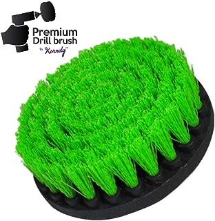 Broca Premium, mediana, verde 13cm. Depurador de potencia profesional. No rasca las superficies. Adecuado para cocina, estufa y horno, gabinetes, mostradores, ollas sucias, limpieza de linóleo