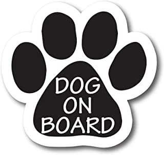Magnet Me Up Dog on Board Pawprint Car Magnet Paw Print Auto Truck Decal Magnet
