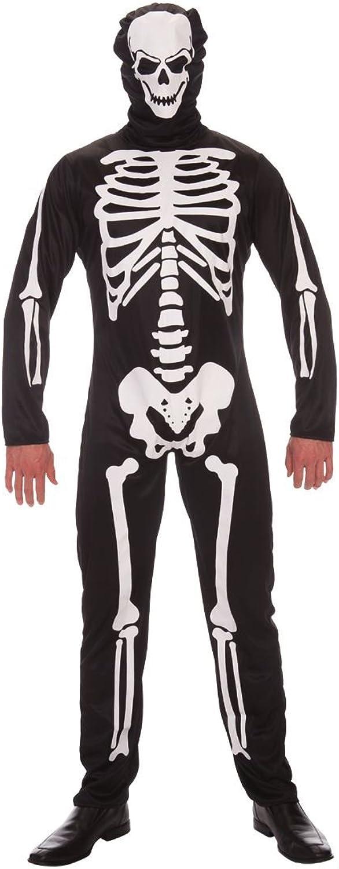 Halloween Skeleton Costume, Jumpsuit with Hood