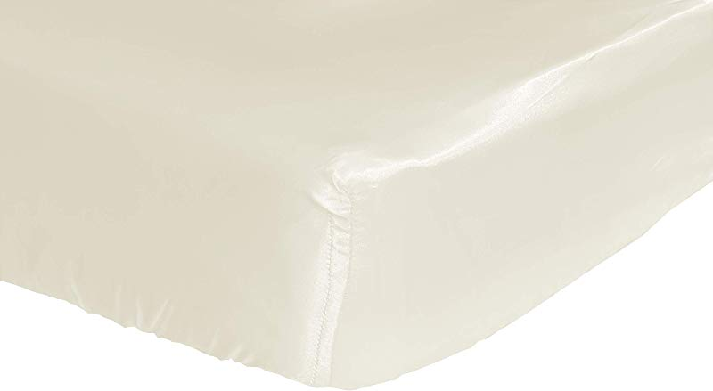 Ivory Cloud Satin Fitted Crib Sheet Fits Standard Crib Mattresses And Daybeds